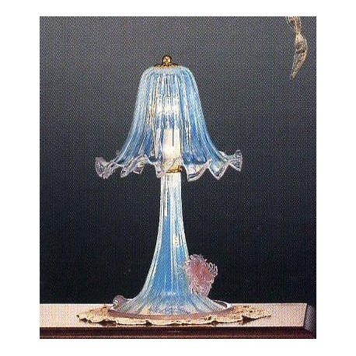 Ducale 1 lumière lampe de table Murano petite  - couleur opale rose