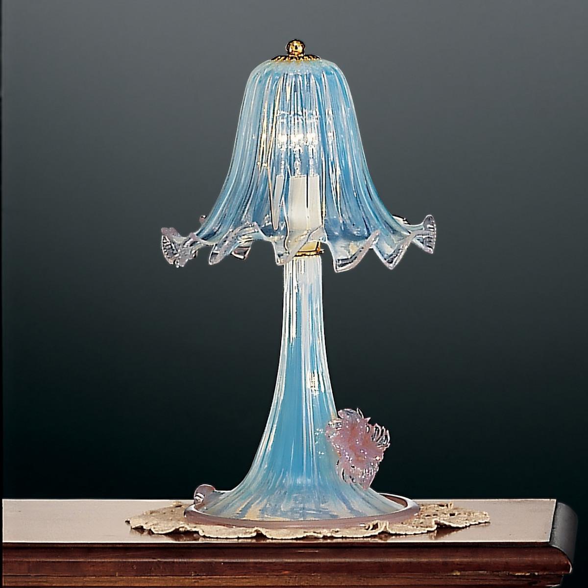 Ducale lámpara pequeña  de mesa de Murano a 1 luz - color opalo rosa