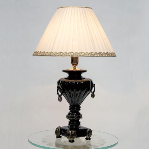 """""""Asteria"""" Murano glas tischleuchte - 1 flammig - schwarze und gold"""