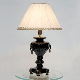 """Asteria"" Murano glass table lamp - 1 light - black and gold"