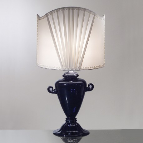 """Egle"" Murano glass table lamp - 1 light - blue"