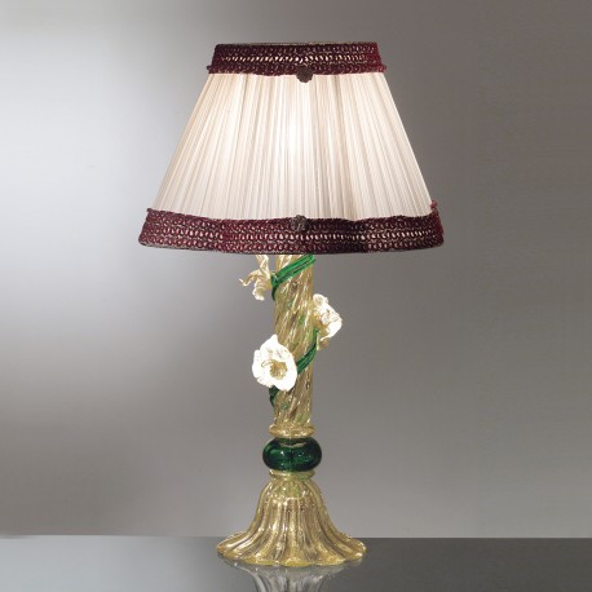 """Armonia"" lampara de sobremesa de cristal de Murano"