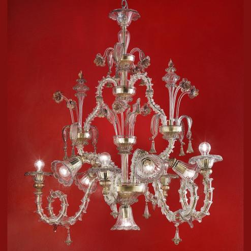"""""""Agenore"""" lampara de cristal de Murano"""