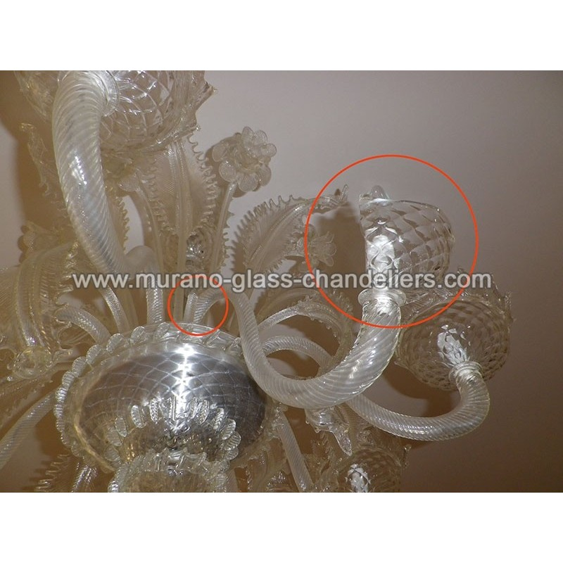 Roland Custom Spare Parts Murano Glass Chandeliers