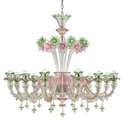 """""""Ines"""" lustre en verre de Murano"""