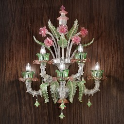 """Ines"" Murano glass wall sconce"