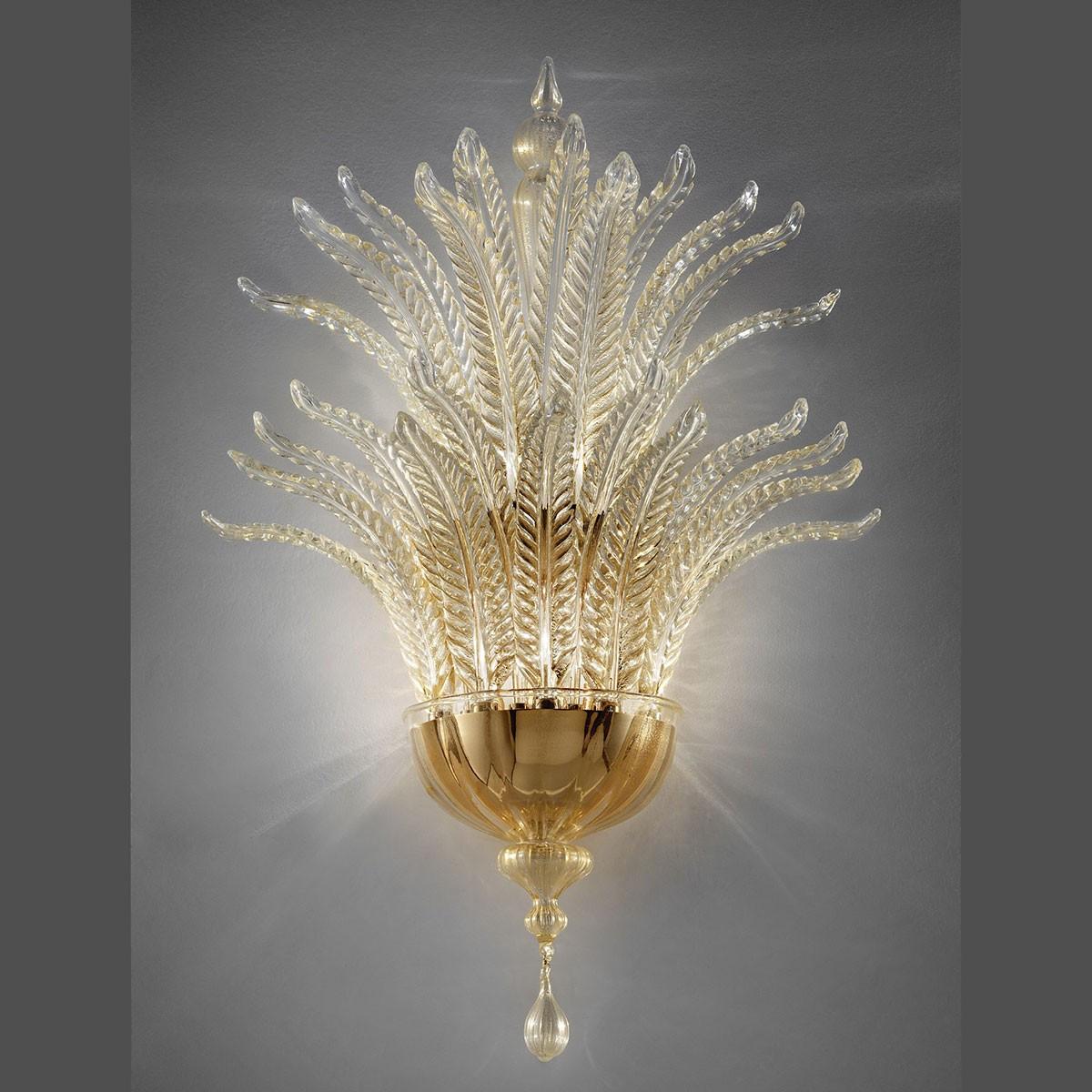 """Fantastico"" aplique de Murano - 5 luces, oro"