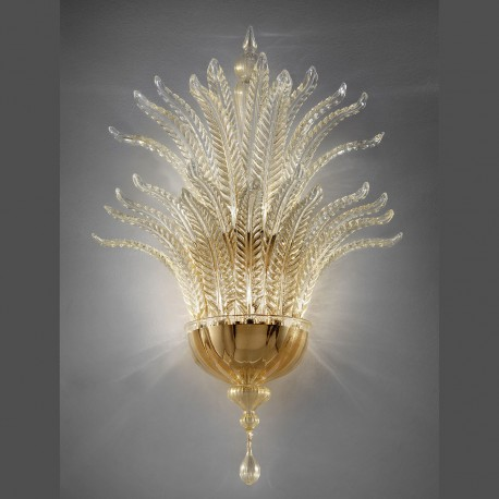 """Fantastico"" Murano glass sconce - 5 lights, gold"