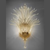 """Fantastico"" Murano glass sconce - 5 lights, gold - detail"