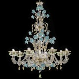 """Celeste"" Murano glass chandelier"