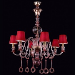 """Mercury"" Murano glass chandelier"