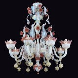 """Malia"" Murano glass chandelier"