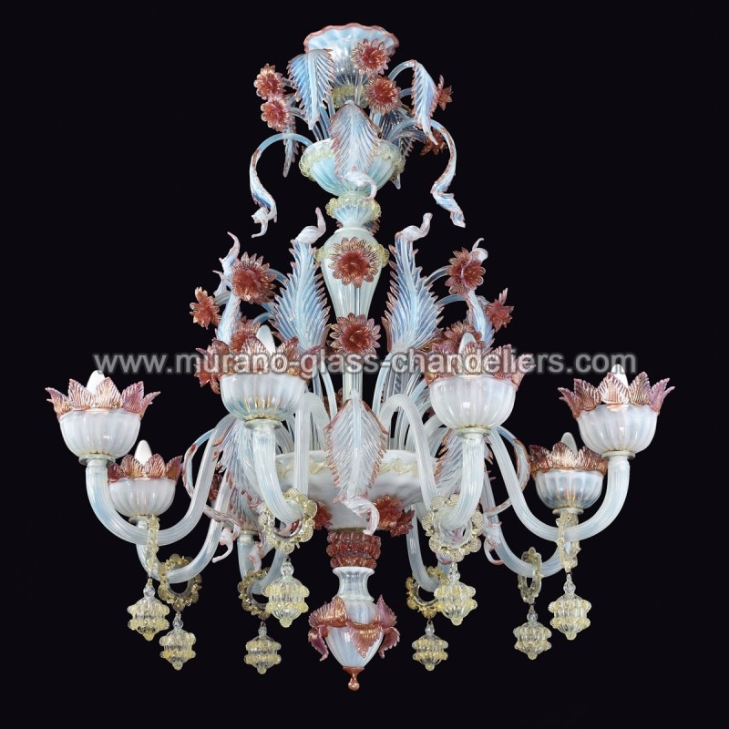 malia lustre en verre de murano murano glass chandeliers. Black Bedroom Furniture Sets. Home Design Ideas