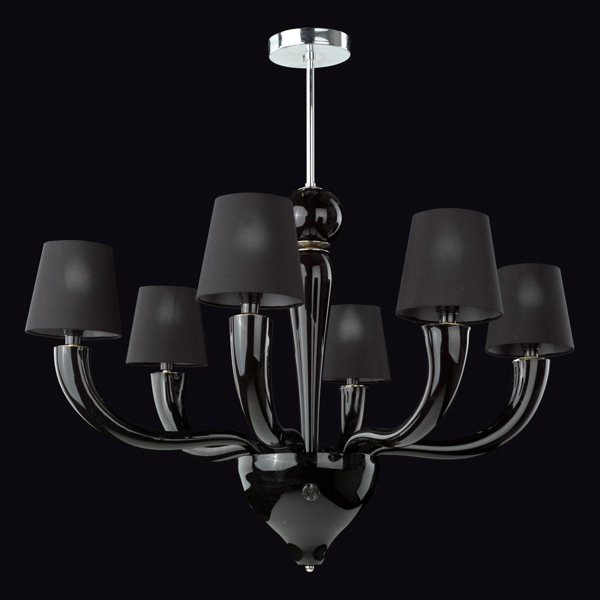 """Onice"" Murano glass chandelier - 6 lights"