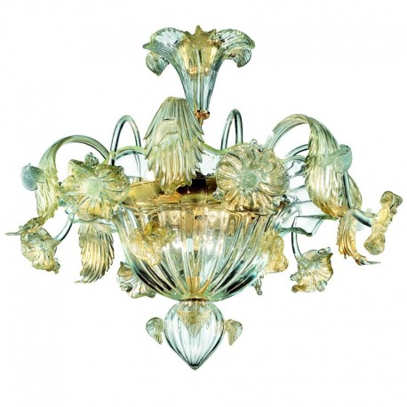 Flora 6 lights Murano ceiling lamp