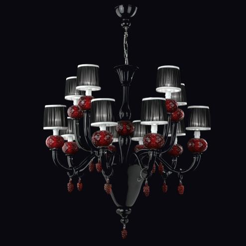 """""""Morer"""" lustre en verre de Murano"""