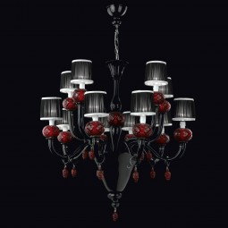 """Morer"" Murano glass chandelier - 8+4 lights"