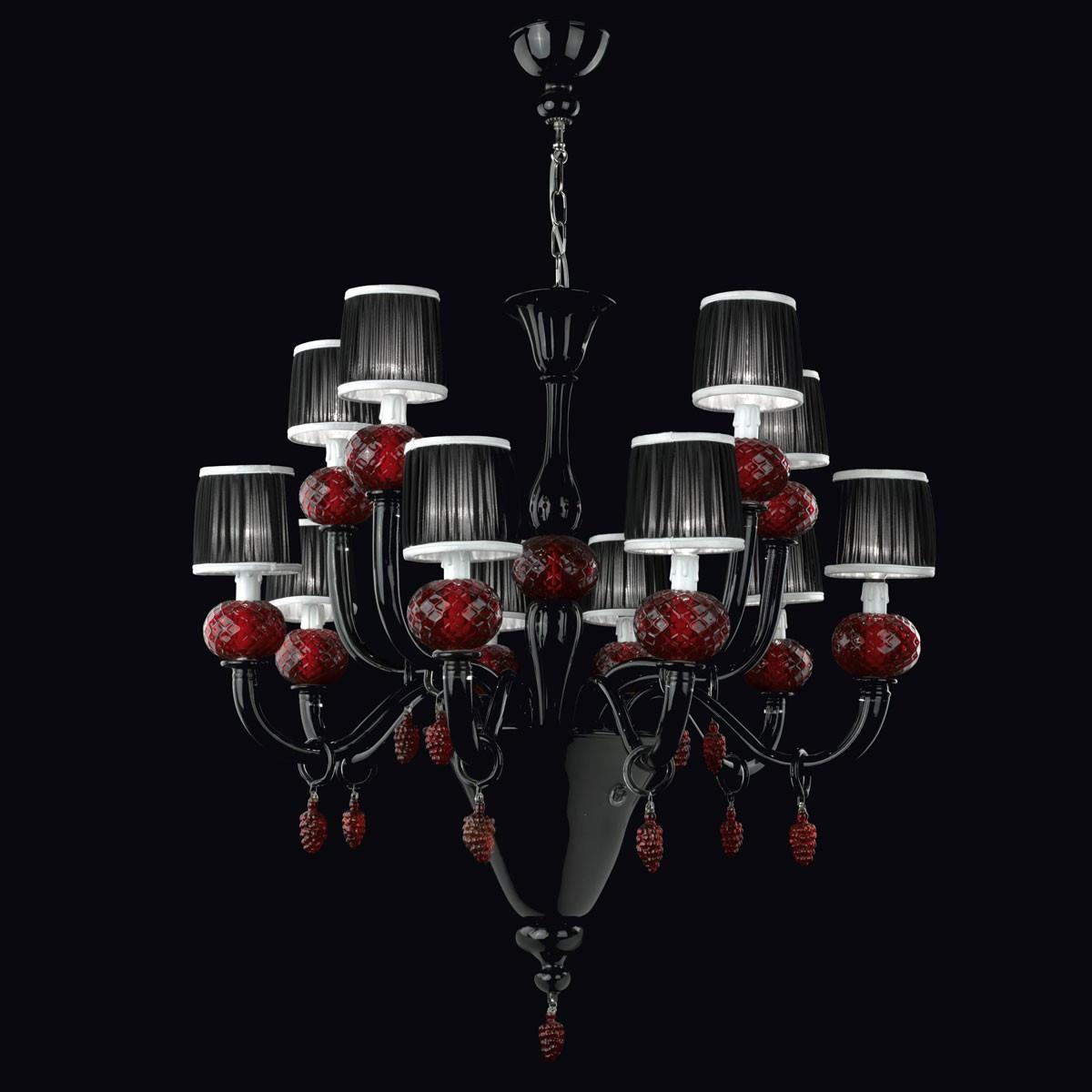 """Morer"" Murano glas Kronleuchter - 8+4 flammig"