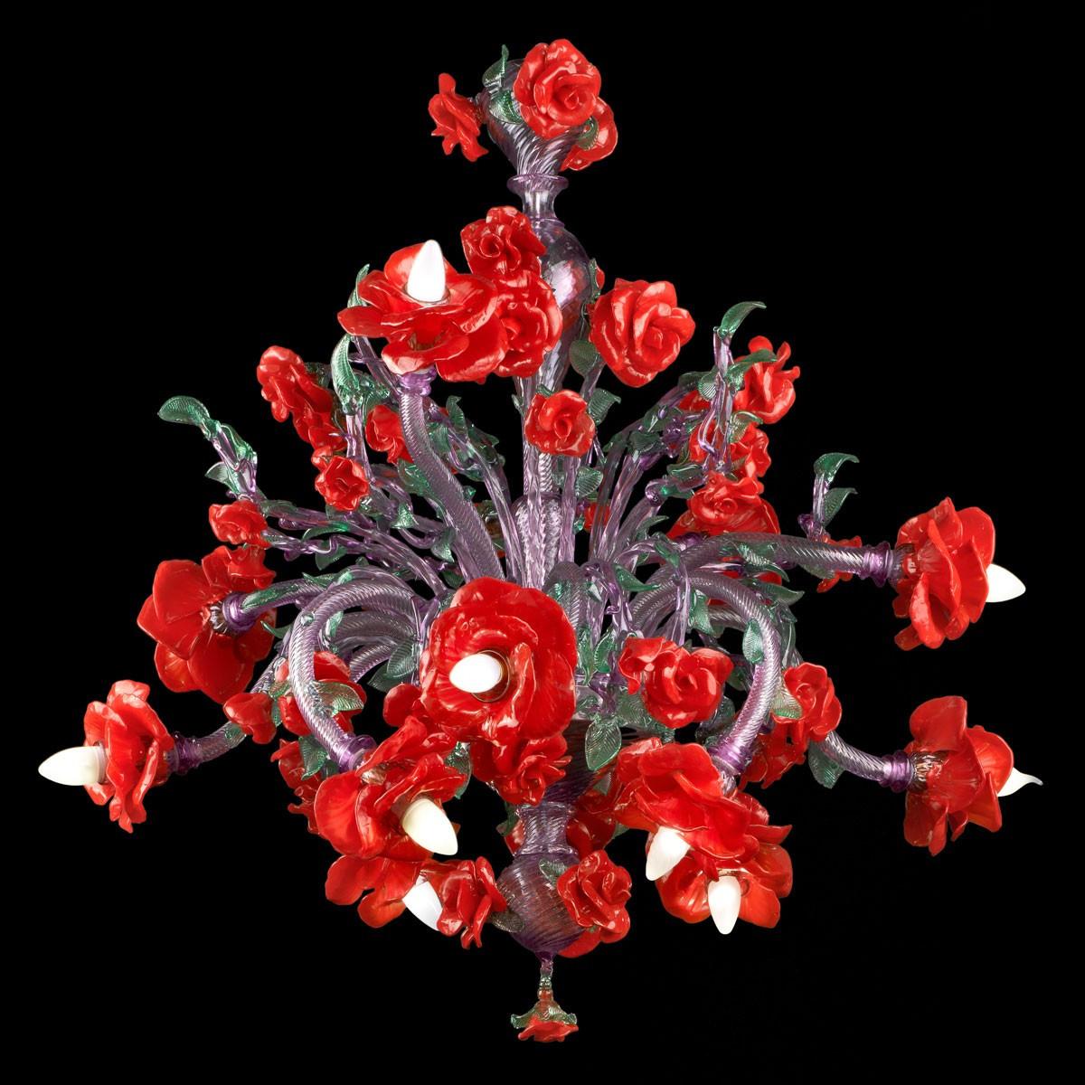 """""""Flamenco"""" lustre en verre de Murano - 12 lumieres"""
