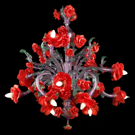 """Flamenco"" Murano glass chandelier - 12 lights"