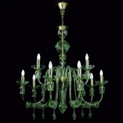 """Nobile"" Murano glass chandelier - 6+3 lights"
