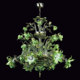 """Gladis"" Murano glass chandelier"
