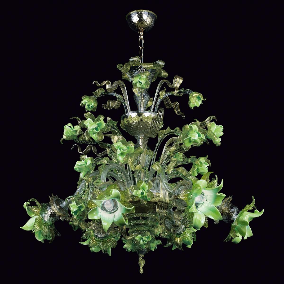 """""""Gladis"""" lustre en verre de Murano - 6 lumieres"""