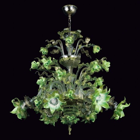 """Gladis"" Murano glass chandelier - 6 lights"