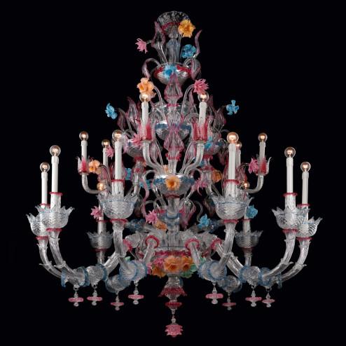 """""""Romantico"""" lampara de cristal de Murano"""