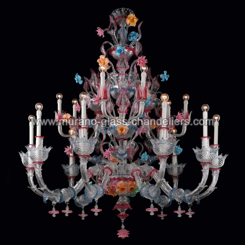 romantico lustre en verre de murano murano glass chandeliers. Black Bedroom Furniture Sets. Home Design Ideas