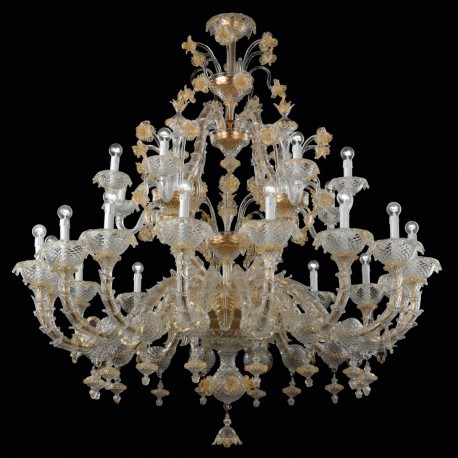 """Reale"" Murano glass chandelier - 24 lights"