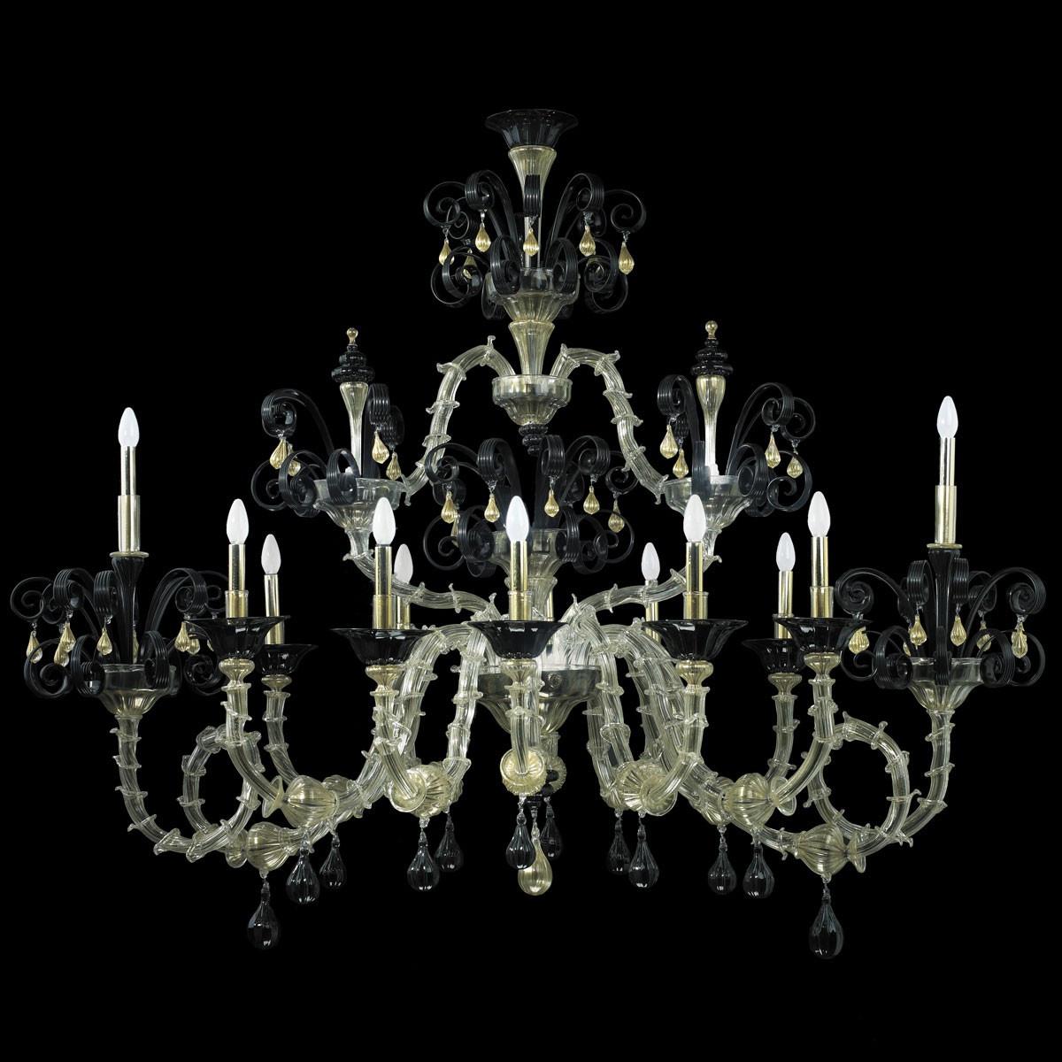 """Nerino"" lustre en verre de Murano - 12 lumieres"