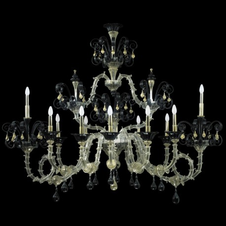 """Nerino"" Murano glass chandelier - 12 lights"
