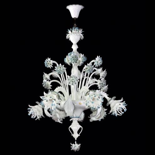 """Fiordilatte"" Murano glass chandelier"