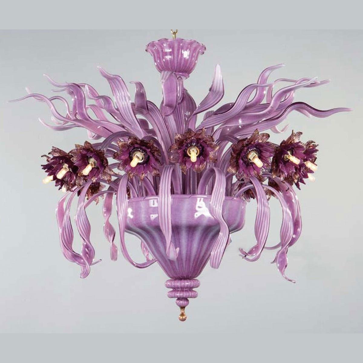 """""""Azalea"""" lampara de techo de Murano - 16 luces"""