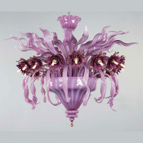 """Azalea"" Murano glass ceiling light - 16 lights"