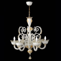 """Contessa"" Murano glass chandelier - 6 lights"