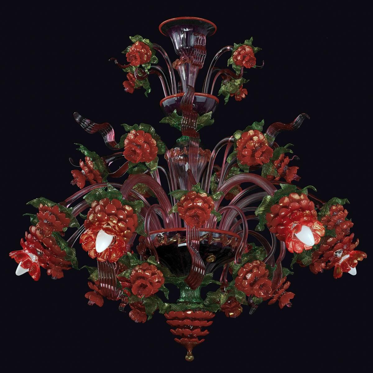 """""""Teresa"""" lustre en verre de Murano - 6 lumieres"""