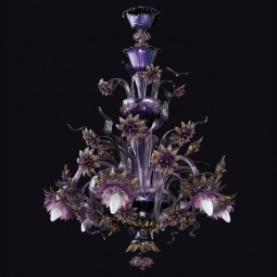 """Cersei"" Murano glass chandelier - 6 lights"