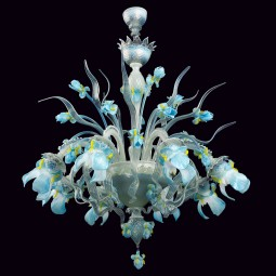"""Elsa"" Murano glass chandelier - 8 lights"