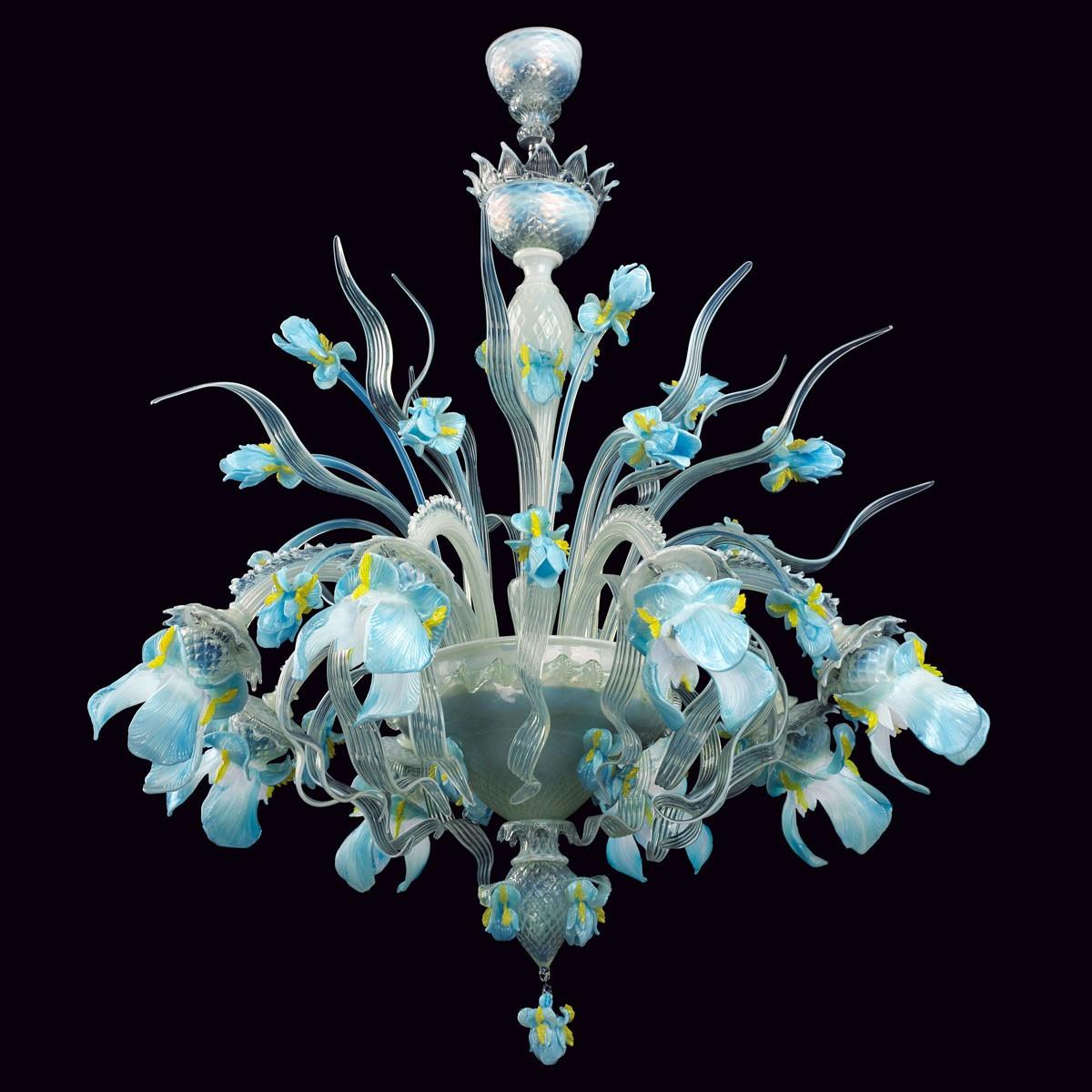 """""""Elsa"""" lustre en cristal de Murano - 8 lumieres"""