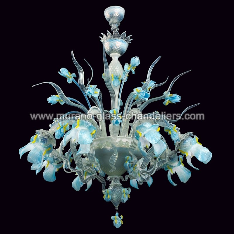 elsa lustre en cristal de murano murano glass chandeliers. Black Bedroom Furniture Sets. Home Design Ideas