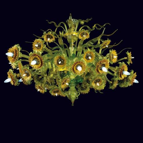 """""""Girasoli"""" lampara de techo de Murano"""