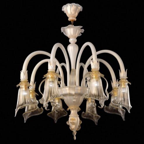 """""""Bianca"""" lampara de araña de Murano"""
