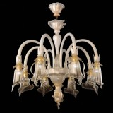 """Bianca"" Murano glass chandelier"