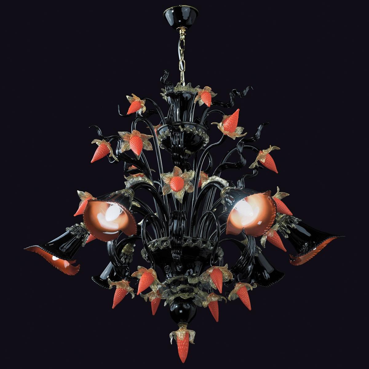 """""""Capriccio"""" araña de cristal de Murano - 6 luces"""