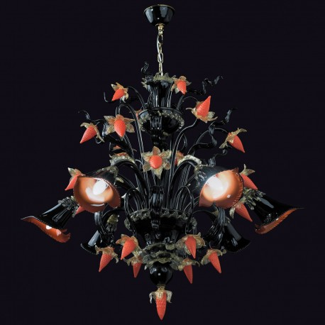 """Capriccio"" Murano glass chandelier - 6 lights"
