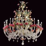"""Padmina"" Murano glass chandelier"