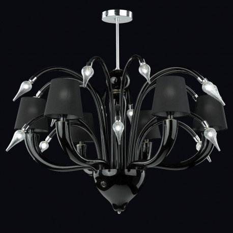 """Tempra"" Murano glass chandelier - 6 lights"