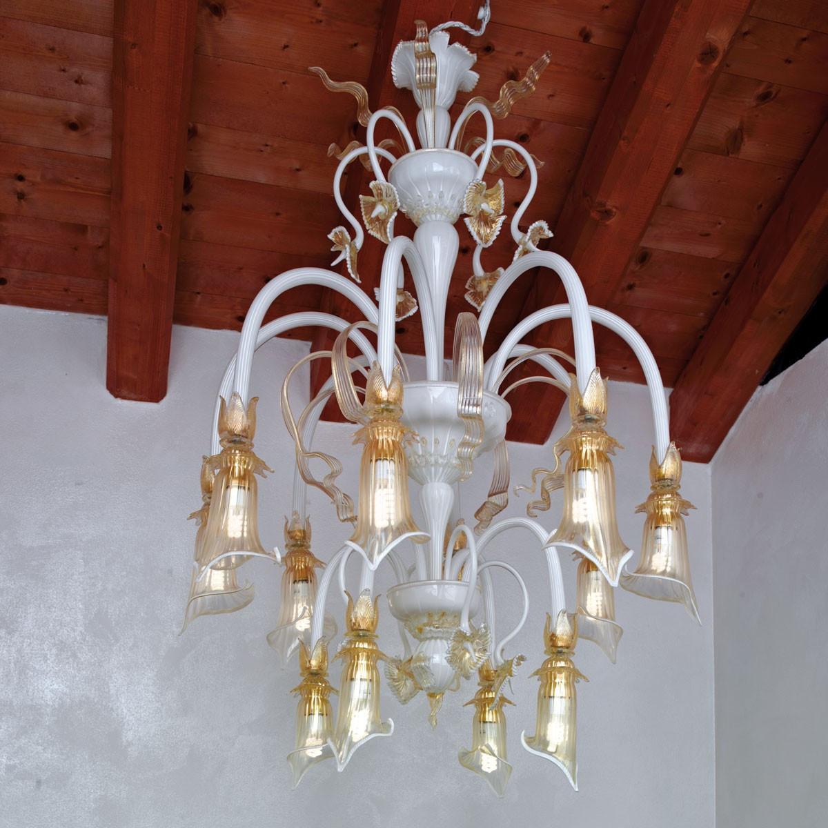 """""""Flaminia"""" lampara de araña de Murano - 8+4 luces"""